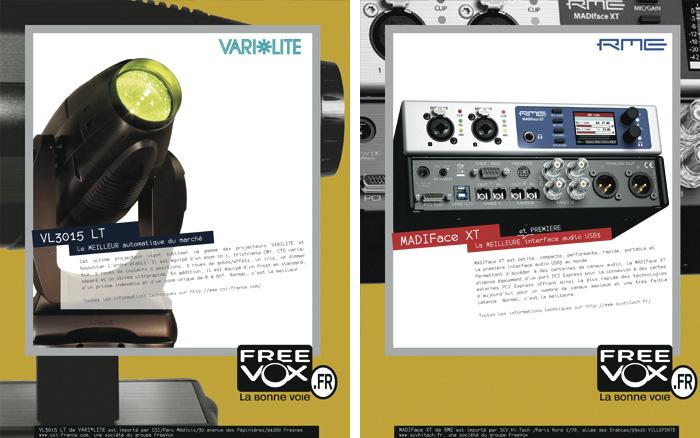 Créa publicités Freevox