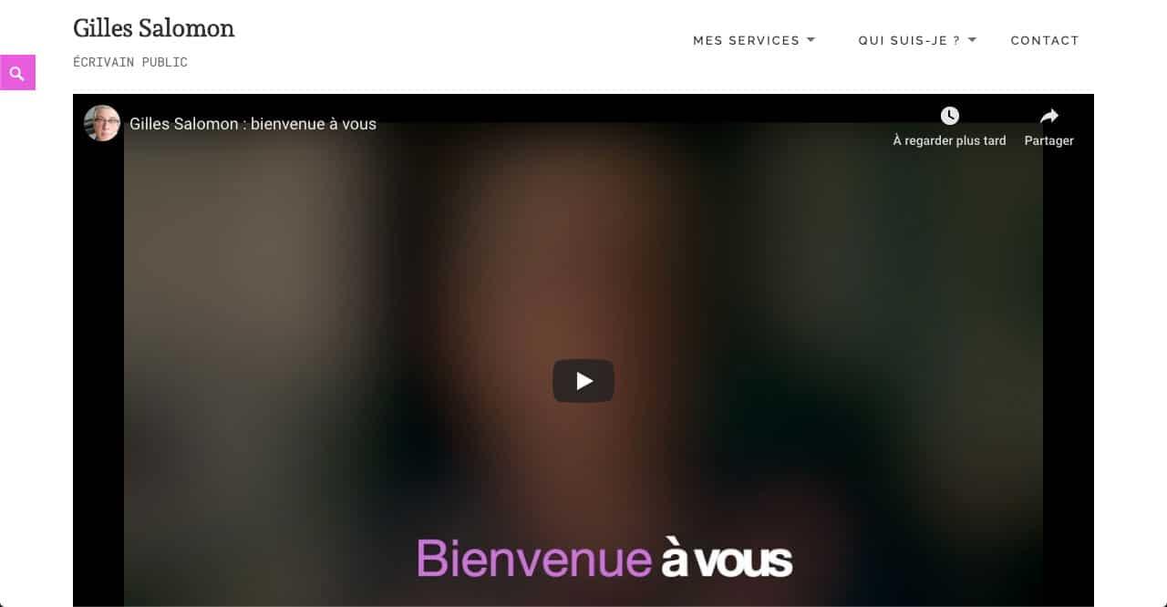 Gilles Salomon - page d'accueil